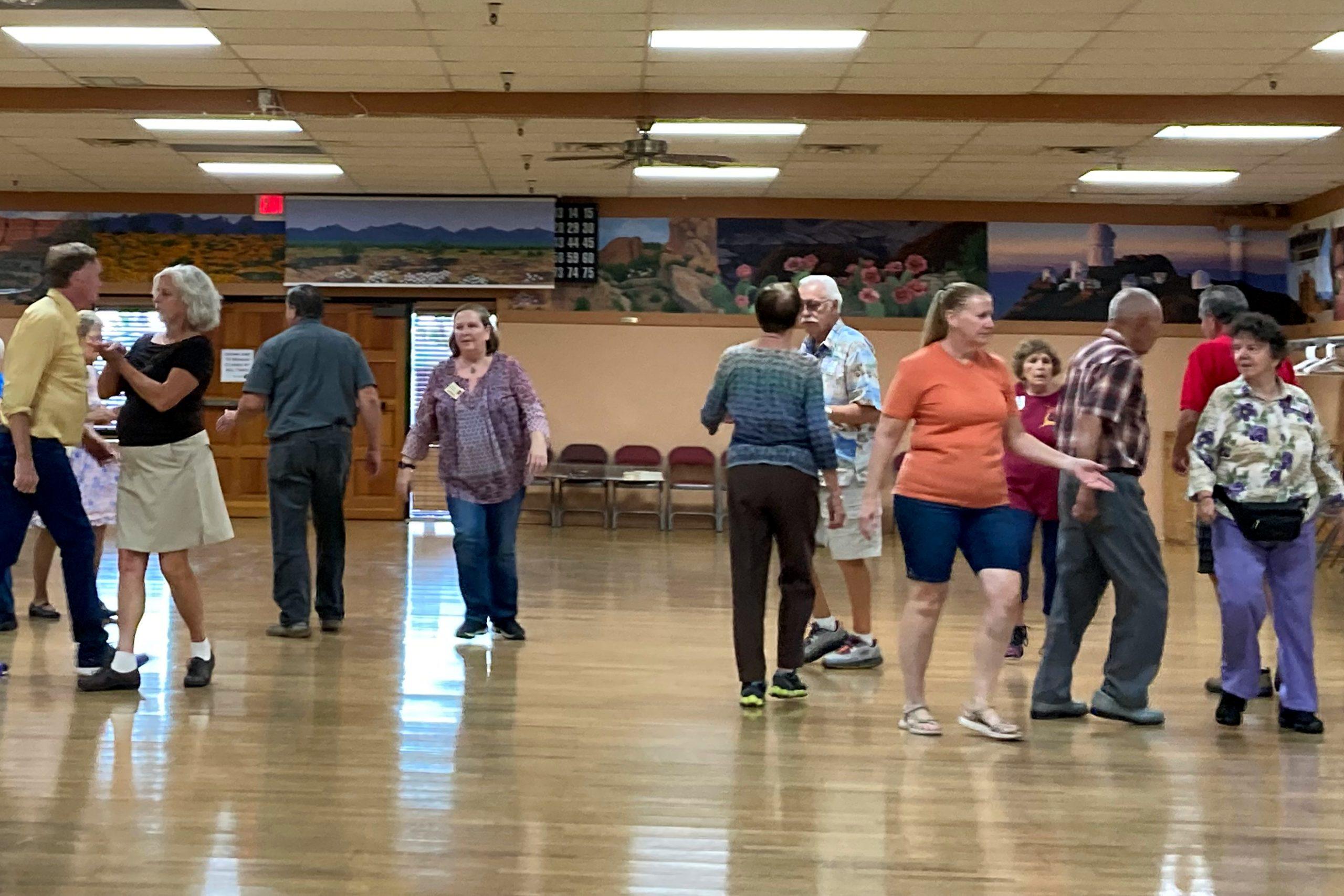 Square dancing at the SARDASA membership dance